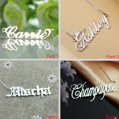 Personalized Name Necklace Multi-Font Styles