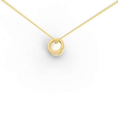 Personalized Circle & Fingerprint Water Drop Necklace