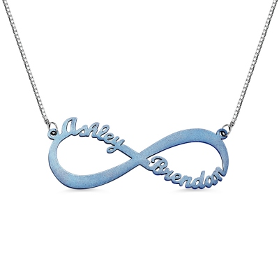 Personalized Colorful Infinity Name Necklace
