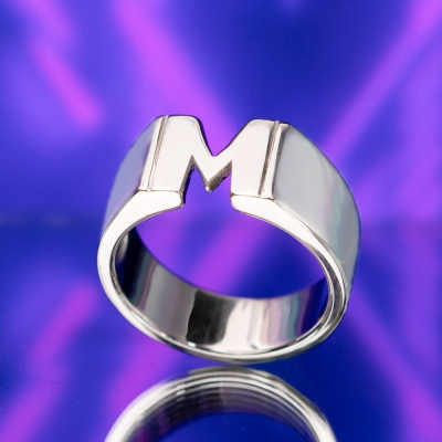 Personalized Unisex Initial/Monogram/Name Ring in Sterling Silver