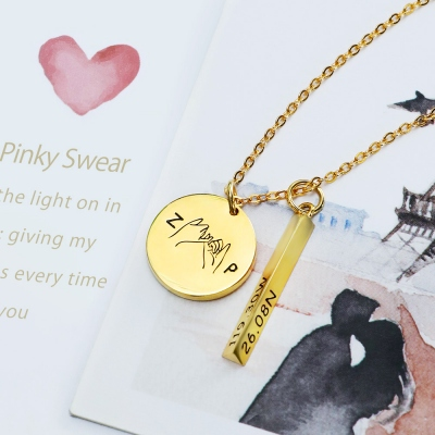 Personalized Valentine's Promise & Best Friend Necklace