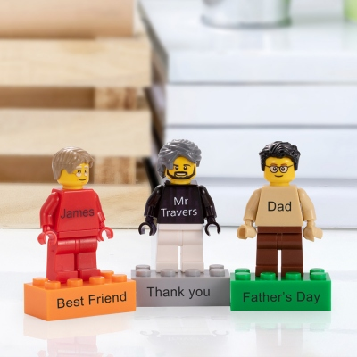 Personalized Mini-figures on a Customed Brick Unique Birthday Gift