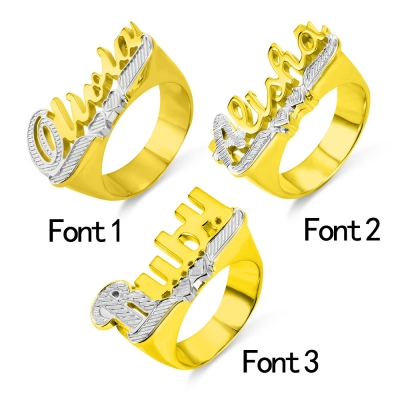 Personalized Name Ring Unisex Name Jewelry