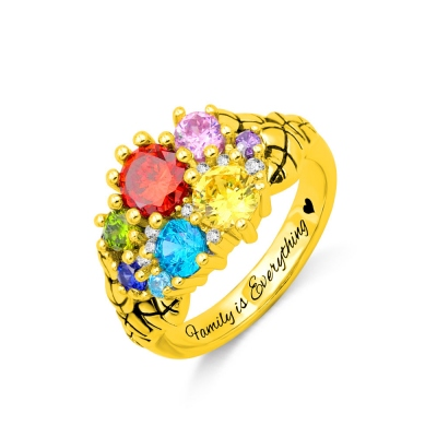 Personalized Mother's Birthstone Ring