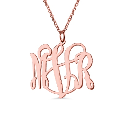 Taylor Swift Personalized Monogram Necklace Rose Gold