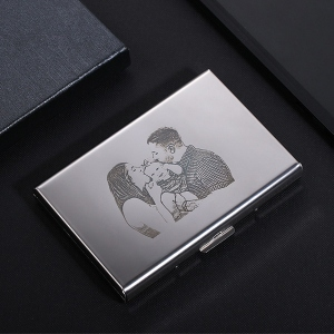 Personalized Men's Credit Card Holder in Stainless Steel