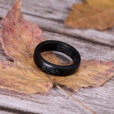 Engraved Wood Ring