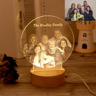 3D Photo Night Light