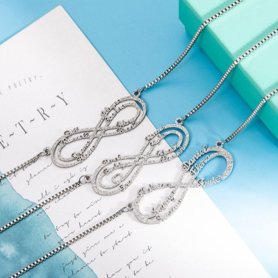 Name NecklacePersonalized Stainless Steel Infinity Name Necklace