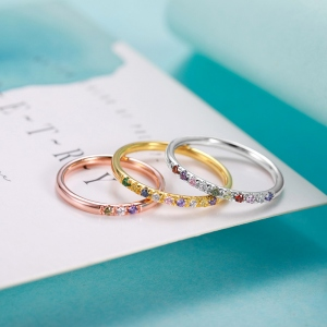 Personalized Family 1-13 Birthstones Ring