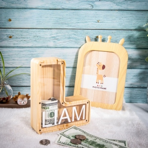 Personalized Wooden Name Money box