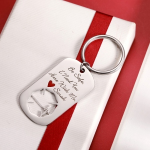 Personalized Firefighter Badge Keychain