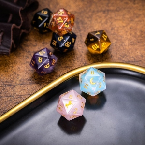 Engraved D20 Dice for DND Games