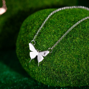 Personalized Name Butterfly Necklace