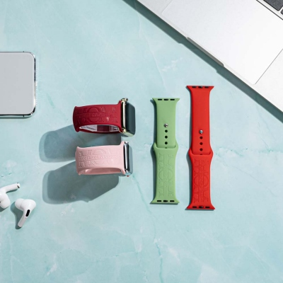 Personalized Name Silicone Watch Band for Apple Watch