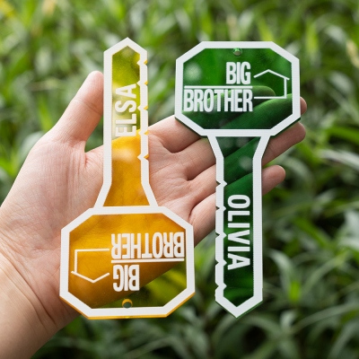 Personalized Big Brother Acrylic Keychain Set of 2