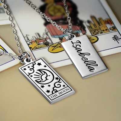 Personalized Tarot Card Necklace