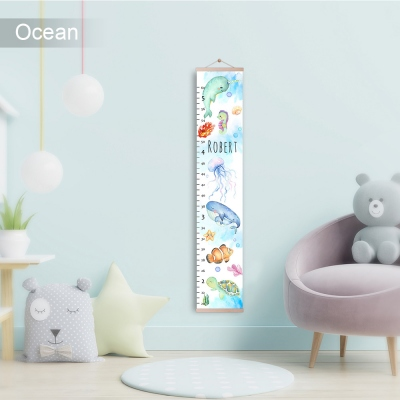 Custom Name Growth Chart for Kids