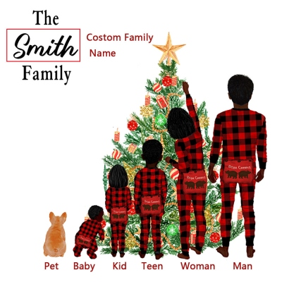Custom Family Christmas Ornament