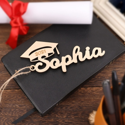 Personalized Wooden Graduation Cap Tag