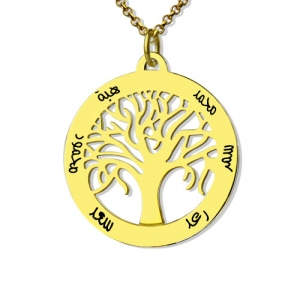 Personalized Family Tree Arabic Name Necklace