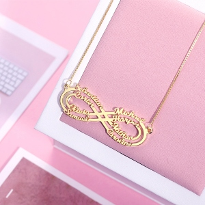 8 names necklace