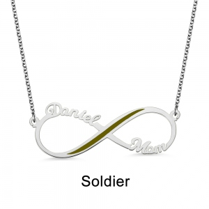 Personalized Inifinity Name Necklace Gift for Hero's Mom/Wife