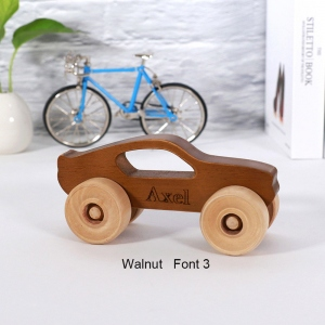Personalized Wooden Toy Car for Kids