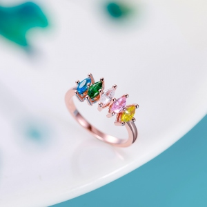 Personalized Birthstone Family Ring for Mother
