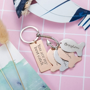 Personalized Fishing Keychain