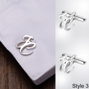 Personalized Letter Name Cufflinks for Father