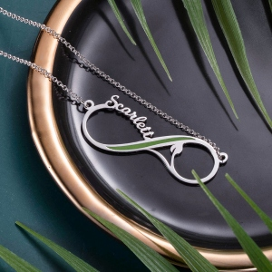 Personalized Vegan Infinity Name Necklace
