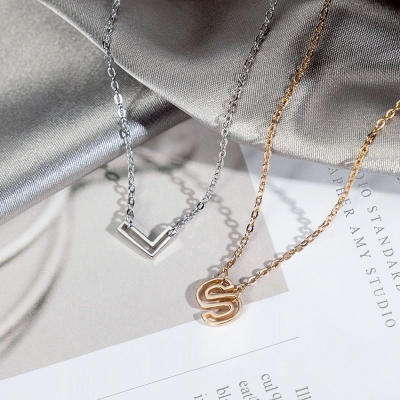 Personalized Dainty Initial Necklace
