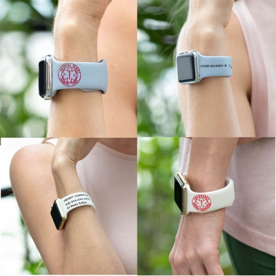 Personalized Replacement Medical Alert Apple Watch Band