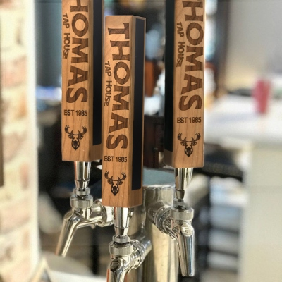 Custom Beer Tap Handle-Laser Engraved with Chalkboard