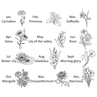 birth month flower jewelry