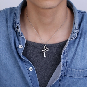 couple cross necklace
