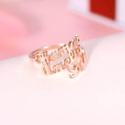 customized name ring for women