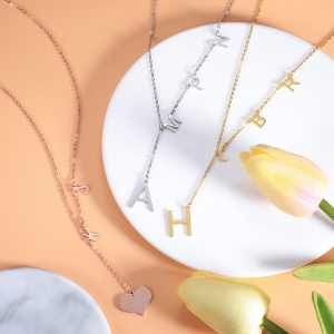 Personalized Sideways Initial Necklace
