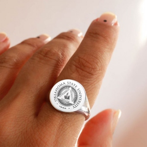 Personalized Badge Ring for Gift