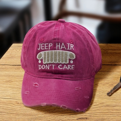 Jeep Hair Don't Care Hat for Girl