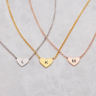 4 Shapes Custom Initial Necklace for Kids