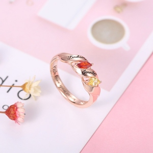 Engraved Twining Ring