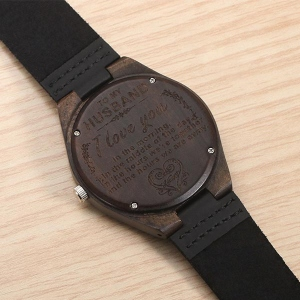 Customized Ebony Watch for Husband