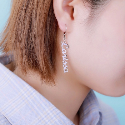 dangle name earrings