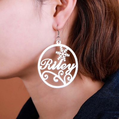 Big name hoop earrings