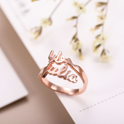 Personalized Name Ring Gift Sterling Silver