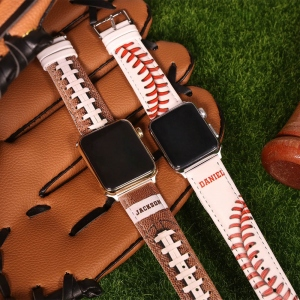 Personalized Sports Leather Watch Band for Apple Watch