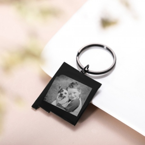 Personalized State Map Photo Necklace