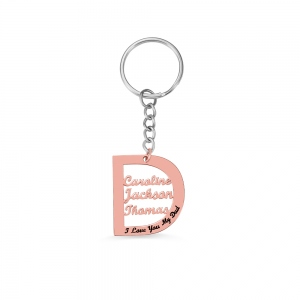 Personalized Family Name Keychain for Father